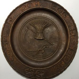 Polish Wood House Blessing Plate